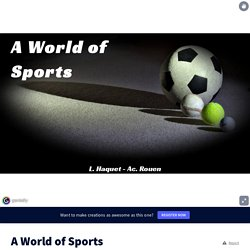 A World of Sports by laurence.haquet on Genially