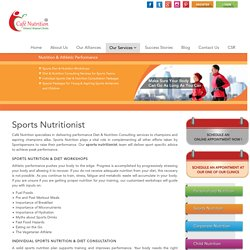The Best Sports Nutritionist at your Doorstep