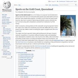 Sports on the Gold Coast, Queensland - Wikipedia