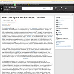 1878–1899: Sports and Recreation: Overview
