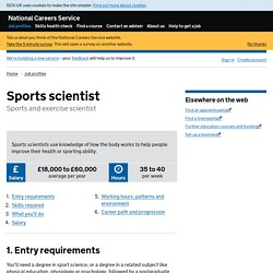 Sports scientist