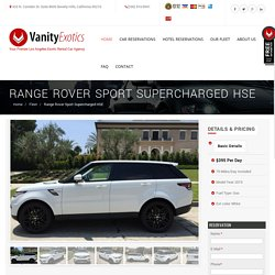 Range Rover Sport Supercharged HSE - -