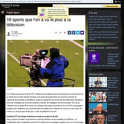 10 sports que l'on a vu le plus à la télévision | Topito Sport
