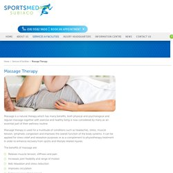 Excellent Sports Massage Therapy in Perth