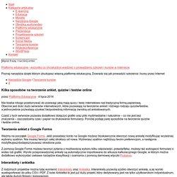 Kilka sposobów na tworzenie ankiet, quizów i testów online