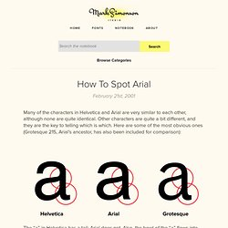 Articles: How to Spot Arial