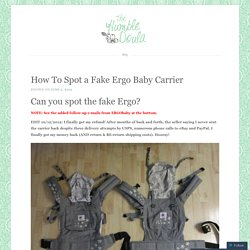 How To Spot a Fake Ergo Baby Carrier
