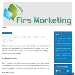 How to Spot a Result-Oriented SEO Firm