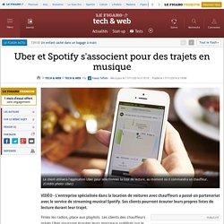 Uber et Spotify s'associent pour des trajets en musique
