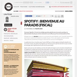 Spotify : bienvenue au paradis (fiscal) » Article » OWNImusic, Réflexion, initiative, pratiques