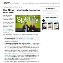 How 125 days with Spotify changed my music habits