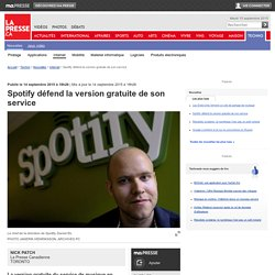 Spotify défend la version gratuite de son service