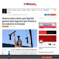 Nuevos datos dicen que Spotify genera más ingresos que iTunes a los músicos en Europa