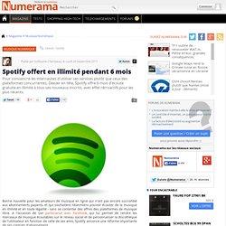 Spotify offert en illimité pendant 6 mois