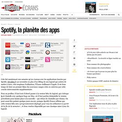 Spotify, la planète des apps