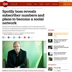 Spotify boss reveals subscriber numbers and plans to become a so