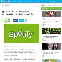 Spotify Details Strategic Partnership with Coca-Cola