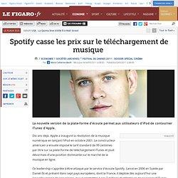 Sociétés : Spotify casse les prix sur le téléchargement de musique