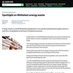 Spotlight on Whitehall energy waste (Press Release)
