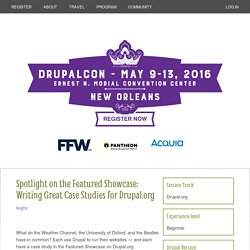 Spotlight on the Featured Showcase: Writing Great Case Studies for Drupal.org