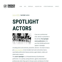 Spotlight Actors, Actors Spotlight handbook