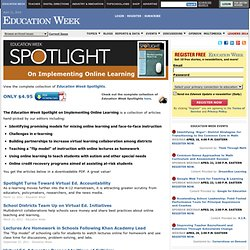 Spotlight on Implementing Online Learning