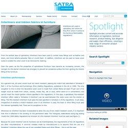 Spotlight - Interliners and hidden fabrics in furniture