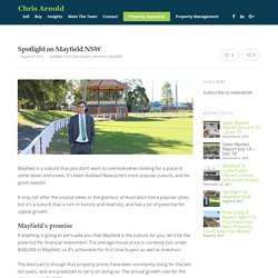 Spotlight on Mayfield NSW