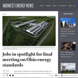 Jobs in spotlight for final meeting on Ohio energy standards