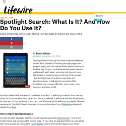 What is Spotlight Search? How to Google Your iPad or iPhone
