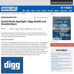 Social Media Spotlight: Digg, Reddit and StumbleUpon