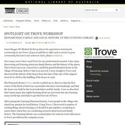 Spotlight on Trove workshop