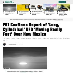 UFO Spotted Over New Mexico: What Did American Airlines Pilot See