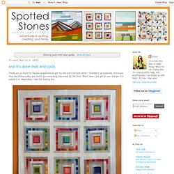 Spotted Stones: quilts
