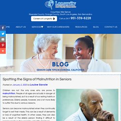 Spotting the Signs of Malnutrition in Seniors