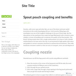 Spout pouch coupling and benefits – Site Title