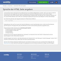 Sprache der HTML Seite angeben > s. Google
