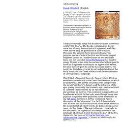 Die Sprache Alkmans: Textgeschichte und Sprachgeschichte