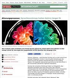 Sprachkenntnisse können alterndes Gehirn schützen