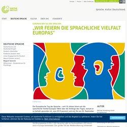 Die sprachliche Vielfalt Europas feiern - Europäischer Tag der Sprachen: Goethe-Institut