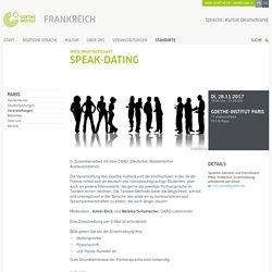 Sprachpartnerschaft: Speak-Dating