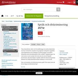 Språk och diskriminering (37398-01)
