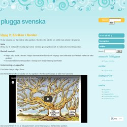 Uppg 2: Språken i Norden