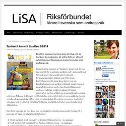 Språket i ämnet i Lisetten 3/2014