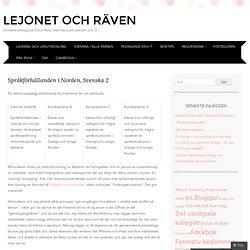 Språkförhållanden i Norden, Svenska 2