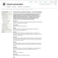 Akademiska språkhandlingar