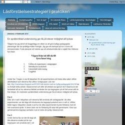 En språkinriktad undervisning ger ALLA elever möjlighet att lyckas