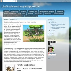 Läsförståelsestrategier i praktiken: Språkinriktad undervisning i alla ämnen - idrott och hälsa