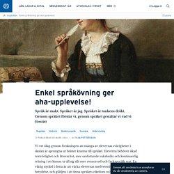 Enkel språkövning ger aha-upplevelse! · Ylva Pettersson