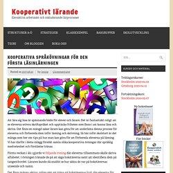 Kooperativa språkövningarför den första läsinlärningen